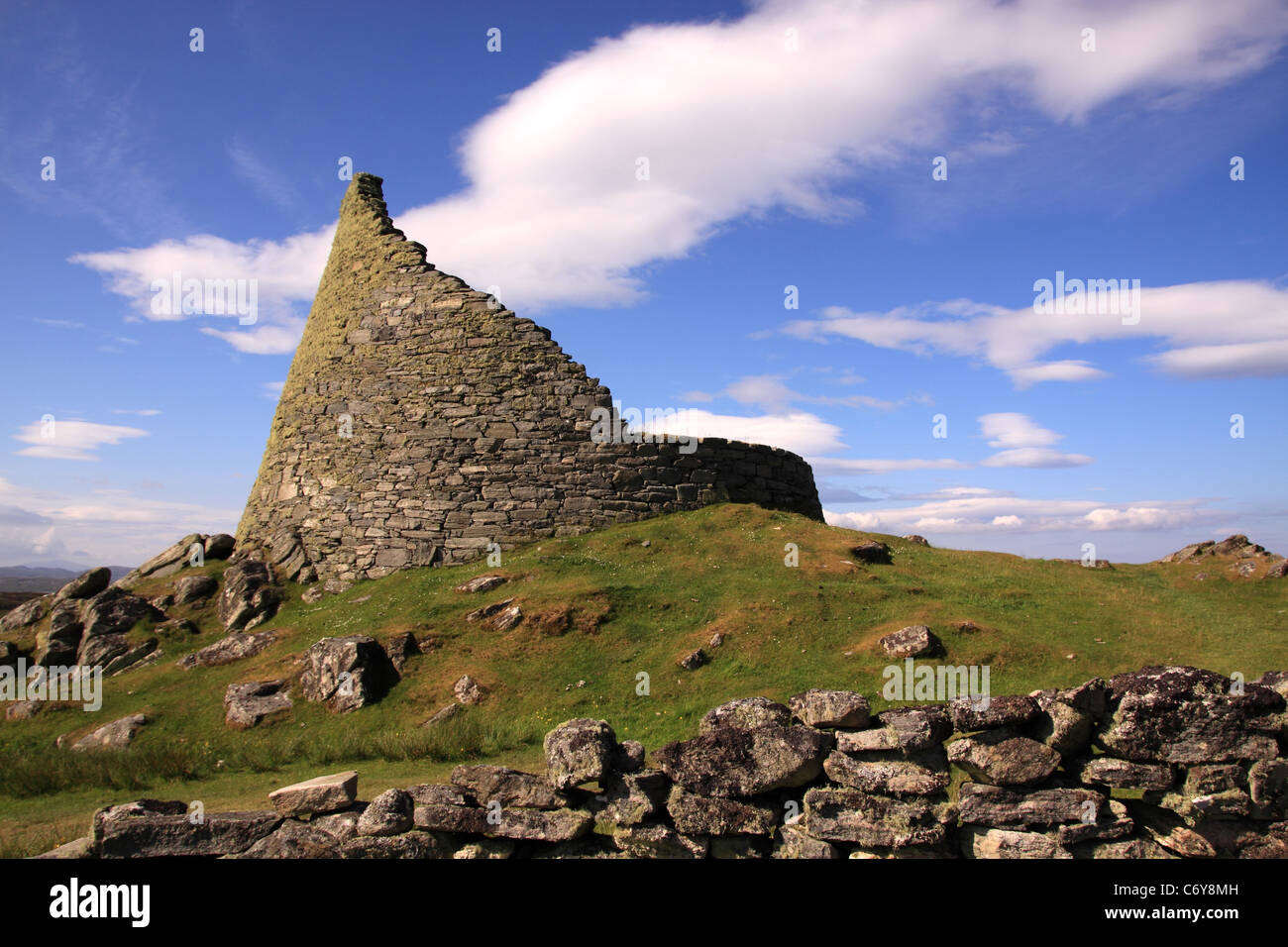 UK Scotland Outer Hebrides Isle of Lewis Carloway Broch - Stock Image