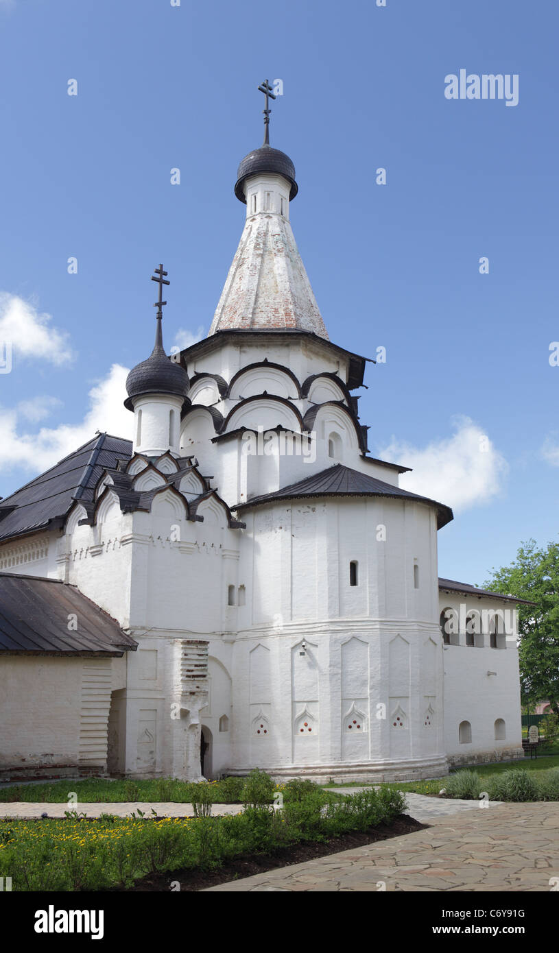 Assumption refectory church of monastery of our Saviour and St. Euthimius in Suzdal, Russia - Stock Image