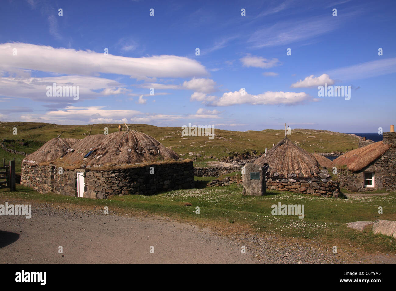 UK Scotland Outer Hebrides Isle of Lewis the township of An Gerrannan - Stock Image