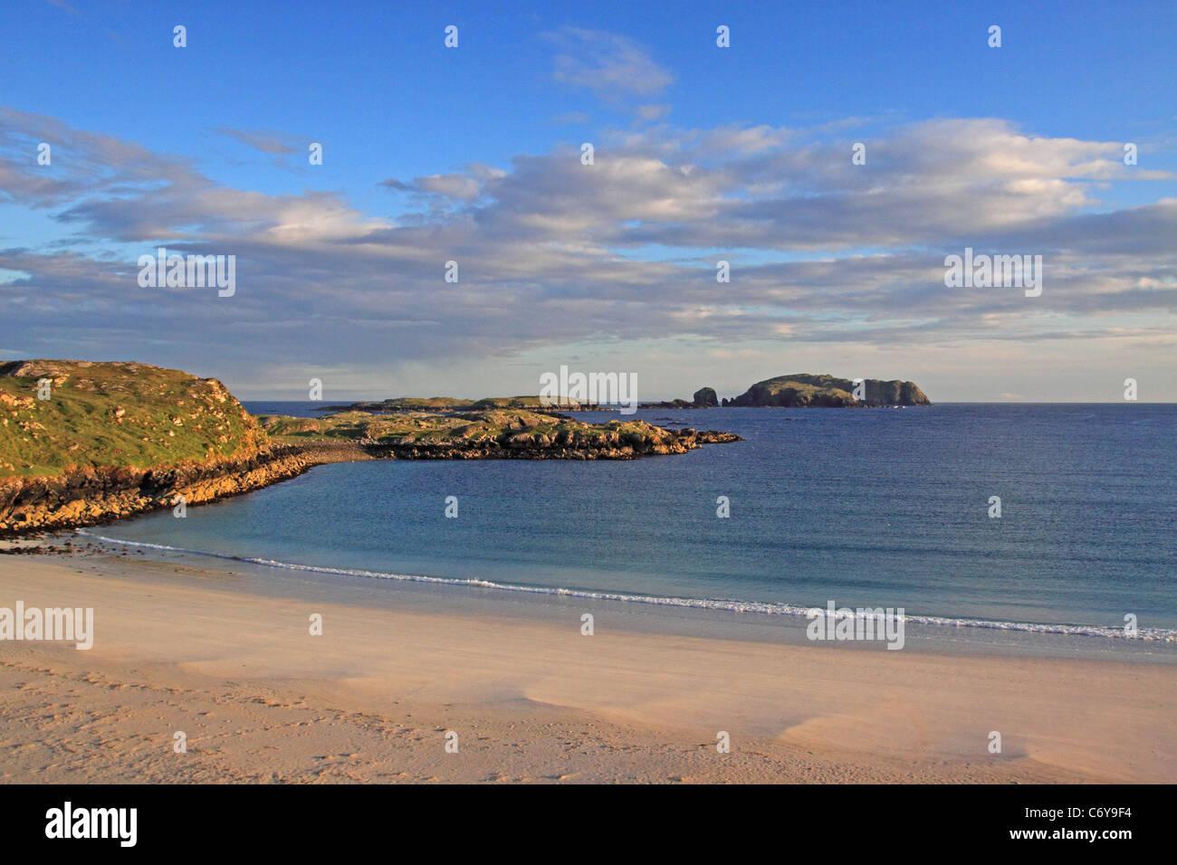 UK Scotland Outer Hebrides Isle of Lewis Bosta Bay Isle of Bernery - Stock Image