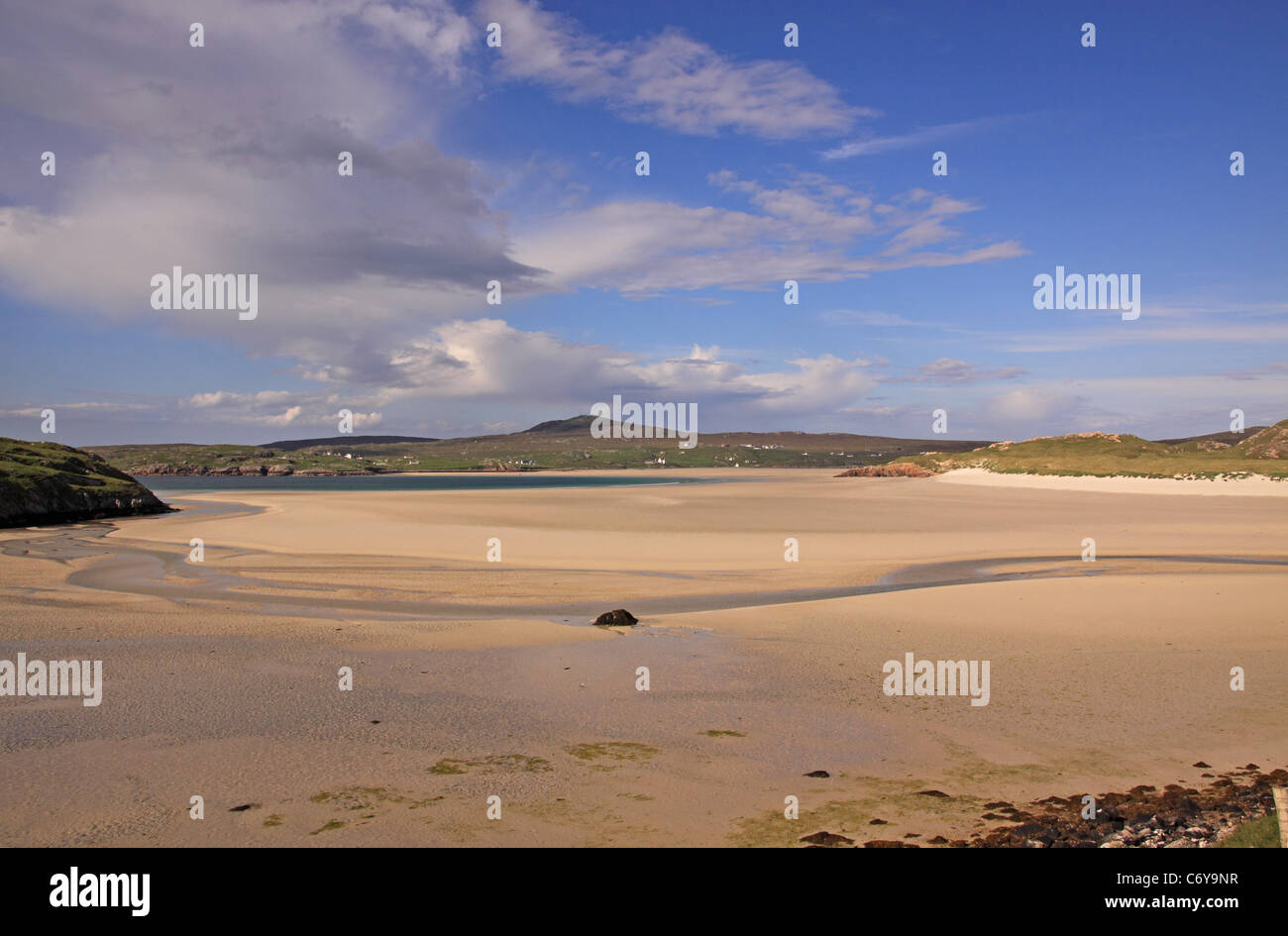 UK Scotland Outer Hebrides Isle of Lewis Uig Sands and Bay - Stock Image
