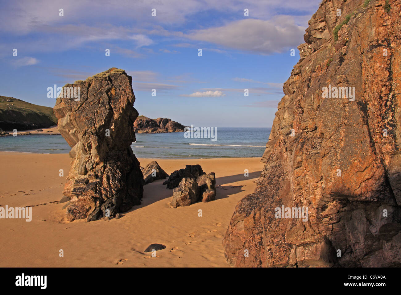 UK Scotland Outer Hebrides Isle of Lewis Mangersta Rock Stack - Stock Image