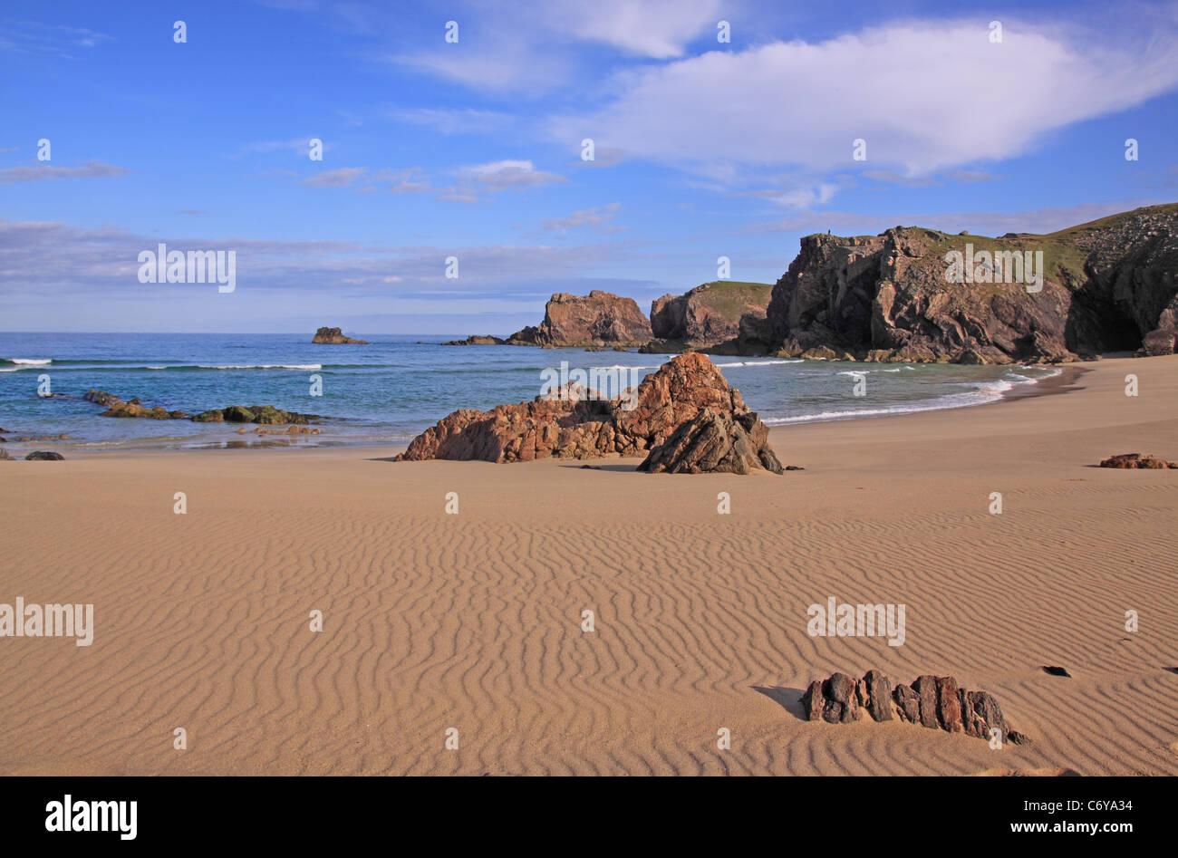 UK Scotland Outer Hebrides Isle of Lewis Mangersta Beach - Stock Image
