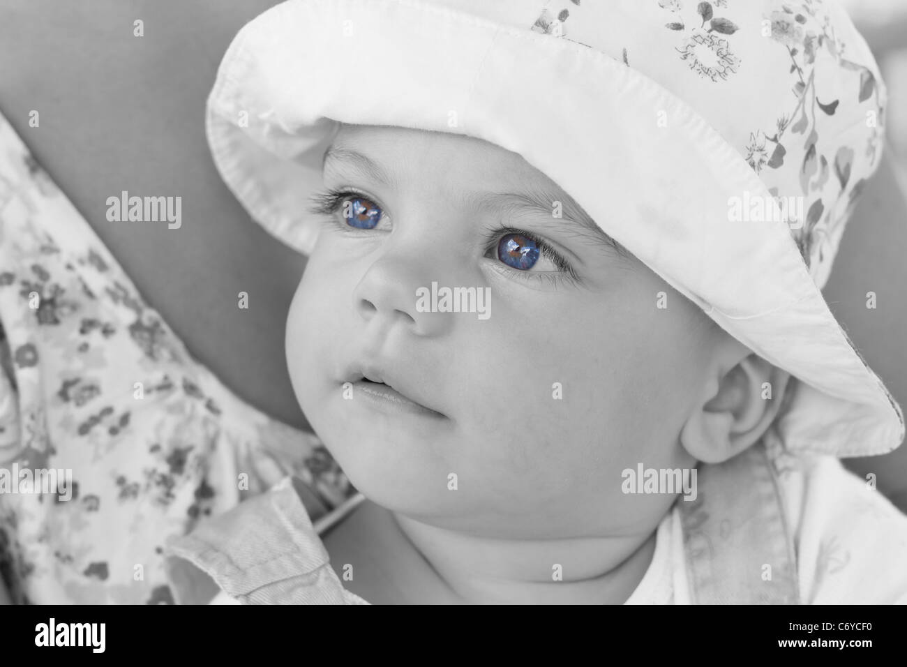 sweet baby girl with blue eyes stock photo: 38711204 - alamy