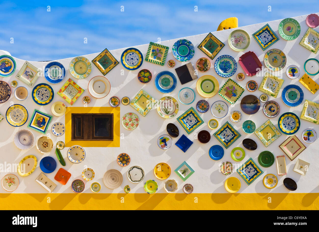 Portuguese Traditional Pottery Sagres Algarve Portugal - Stock Image