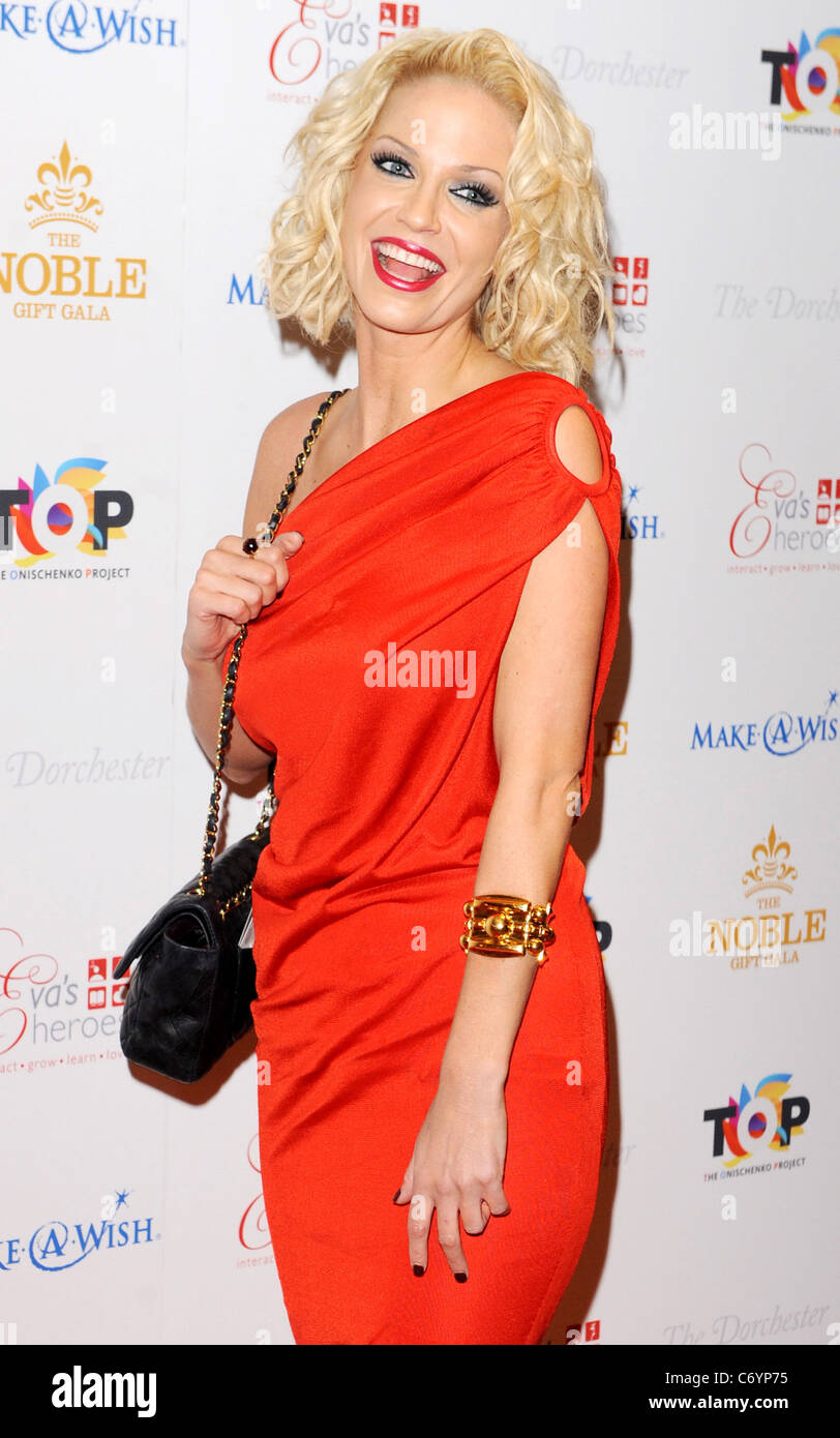 Sarah Harding The Noble Gift Gala held at The Dorchester - Arrivals London, England - 13.03.10 - Stock Image