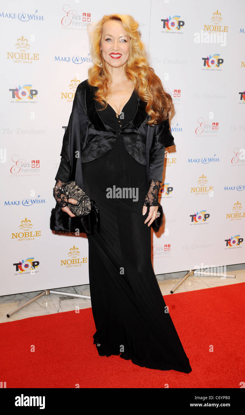 Jerry Hall The Noble Gift Gala held at The Dorchester - Arrivals London, England - 13.03.10 - Stock Image