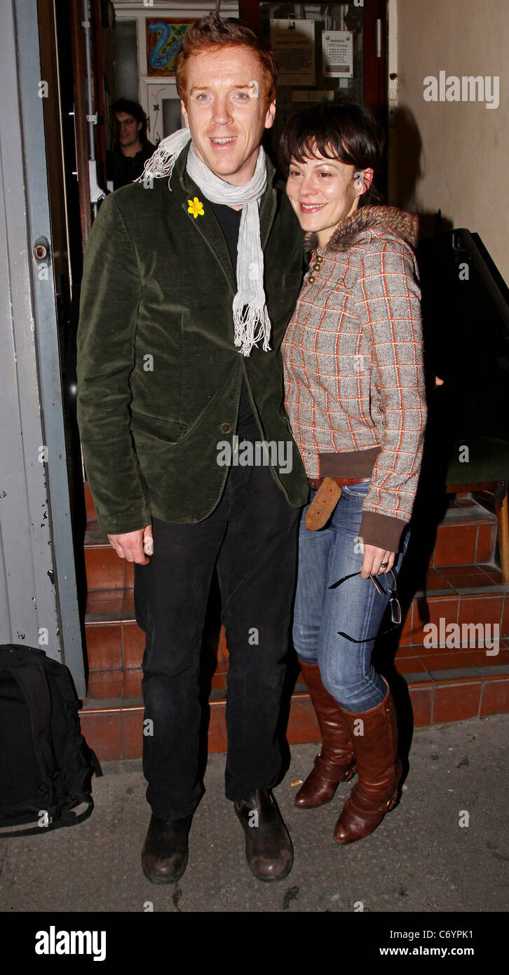 Helen Mccrory Leaving damian lewis and his wife helen mccrory leaving the comedy