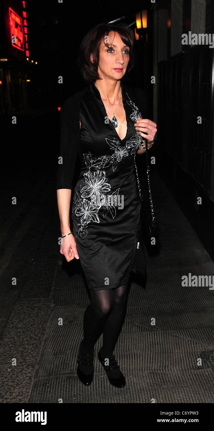Nicola Roberts's mother arrives at The Ivy Club London, England - 13.03.10 Zibi - Stock Image