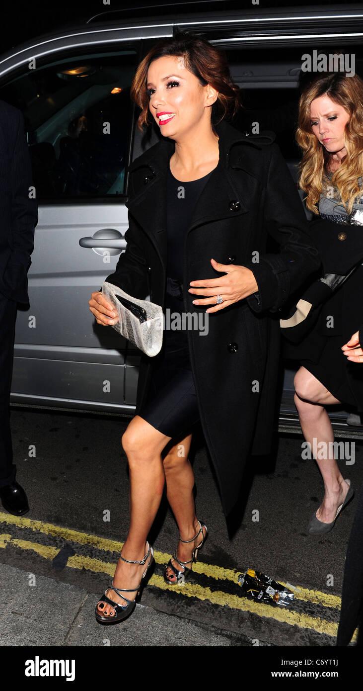 Eva Longoria Parker arrives at The Cuckoo Club to celebrate her birthday London, England - 13.03.10 - Stock Image