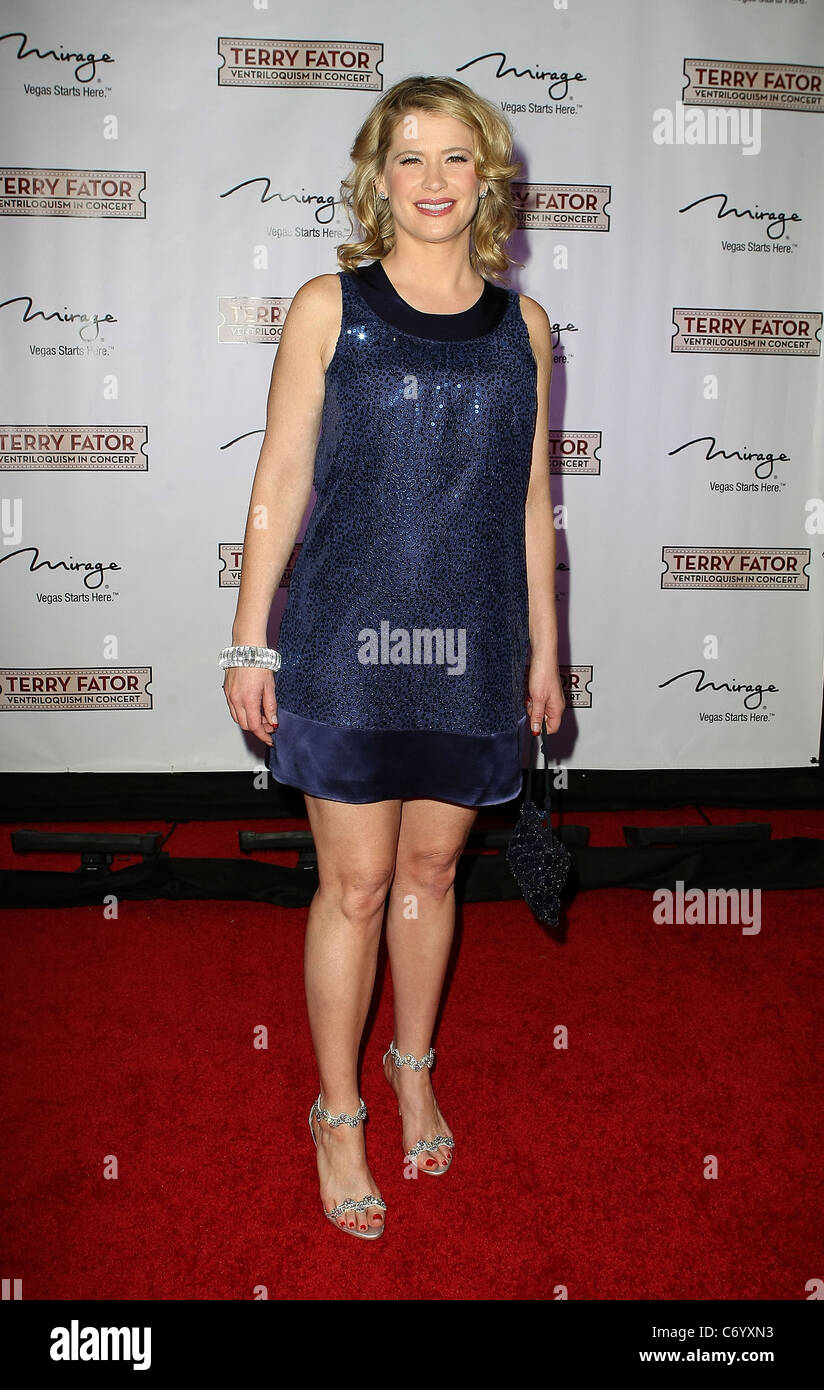 Kristy Swanson Terry Fator hosts a Star-Studded One Year Anniversary Celebration held at The Mirage Resort Casino - Stock Image