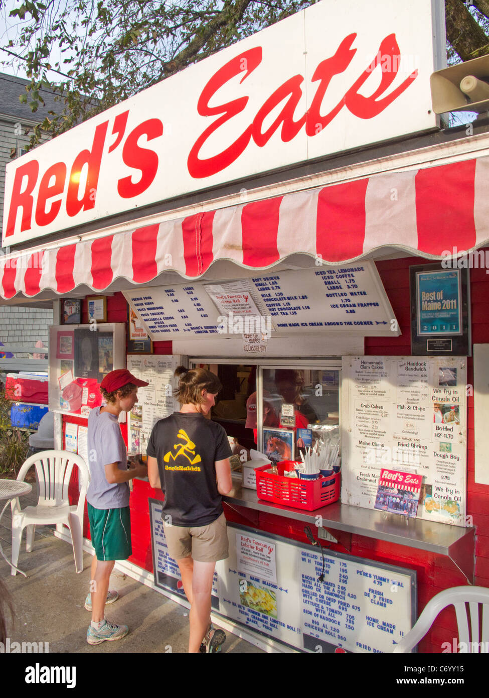 Red's Eats lobster stand in Wiscasset Maine ME - Stock Image