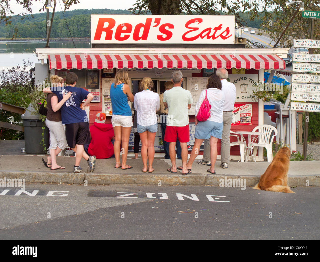 Red's Eats lobster stand in Wiscasset Maine - Stock Image