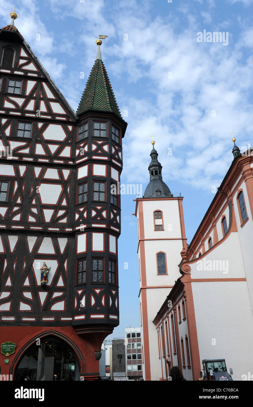 The Rathaus Fulda Hesse Germany Deutschland - Stock Image