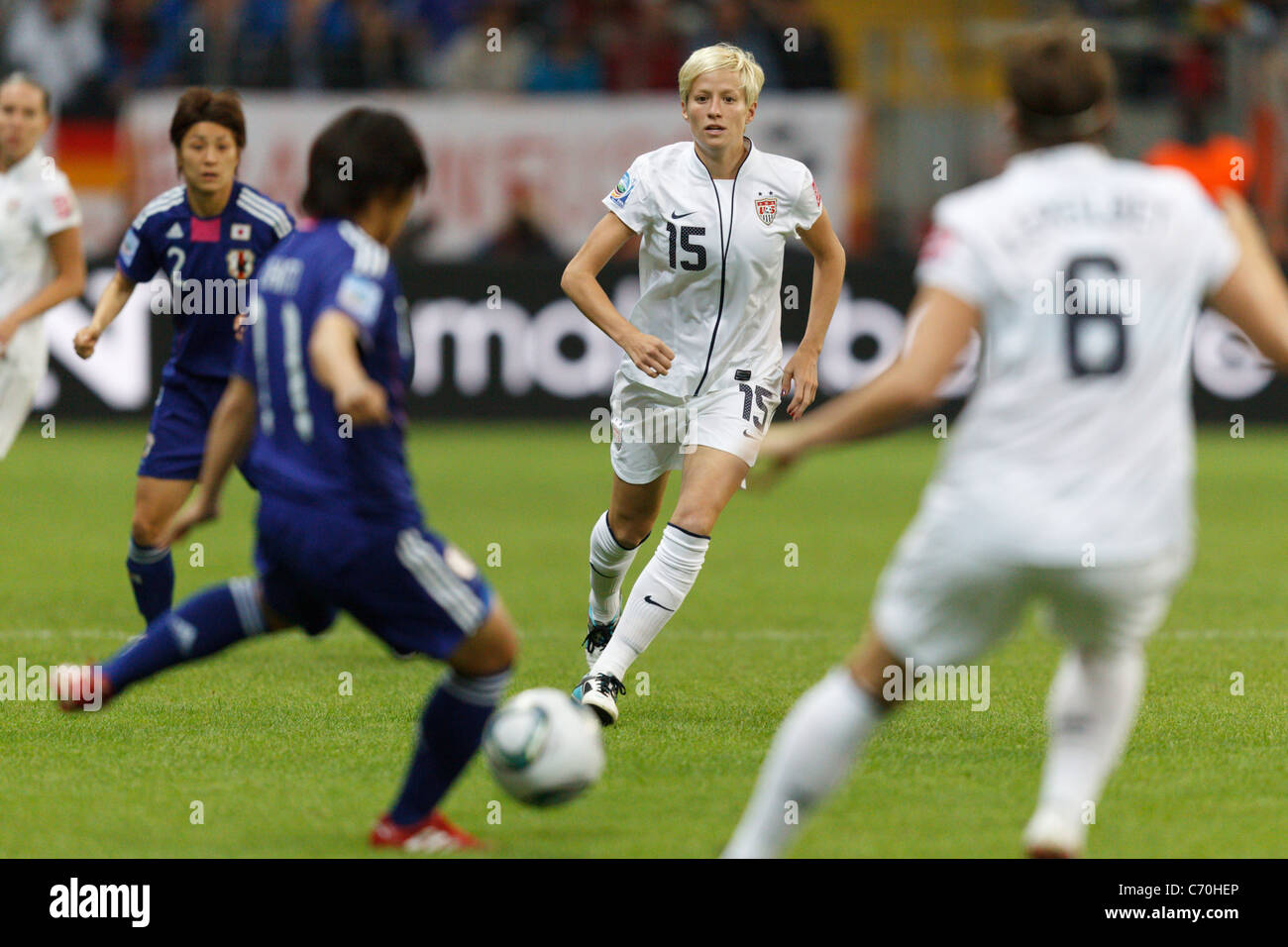 Megan Rapinoe of the USA (15) in action during the FIFA Women's World Cup final against Japan July 17, 2011. - Stock Image