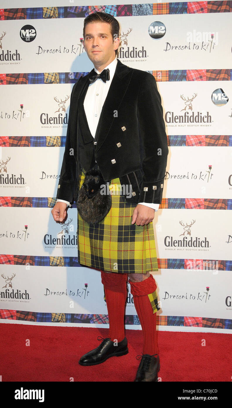 Donald Trump Jr. 2010 'Dressed To Kilt' Charity Fashion Show at M2 Ultraloungs - Arrivals New York City, - Stock Image
