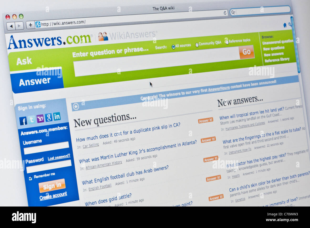 Answers Stock Photos & Answers Stock Images - Alamy