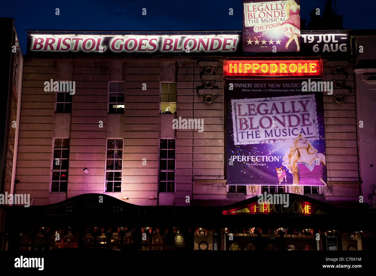 Legally Blonde at the Hippodrome Theatre in Bristol, England, UK - Stock Image