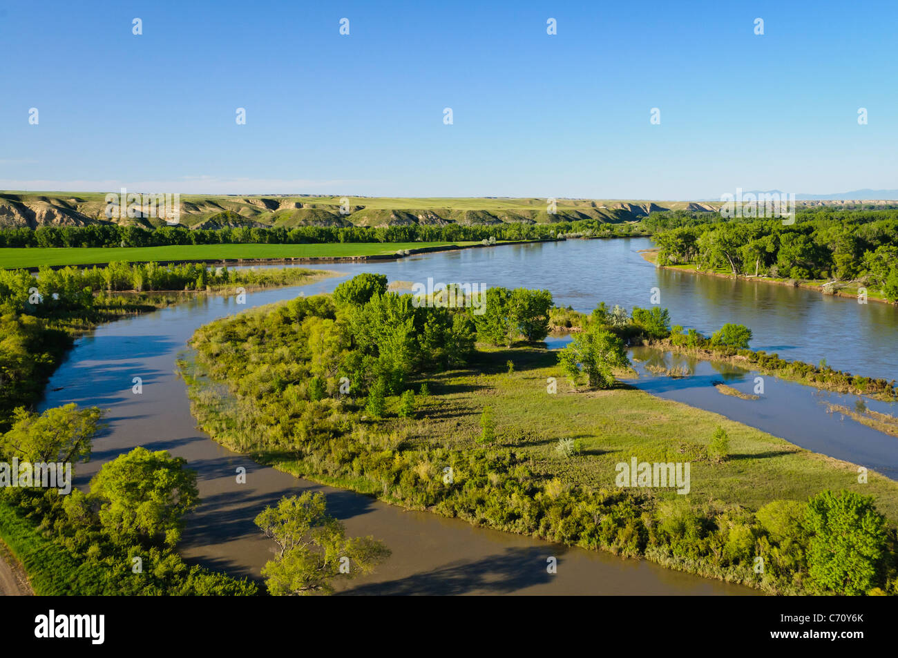 Decision Point overlook at the confluence of the Missouri and Marias Rivers, Montana. - Stock Image