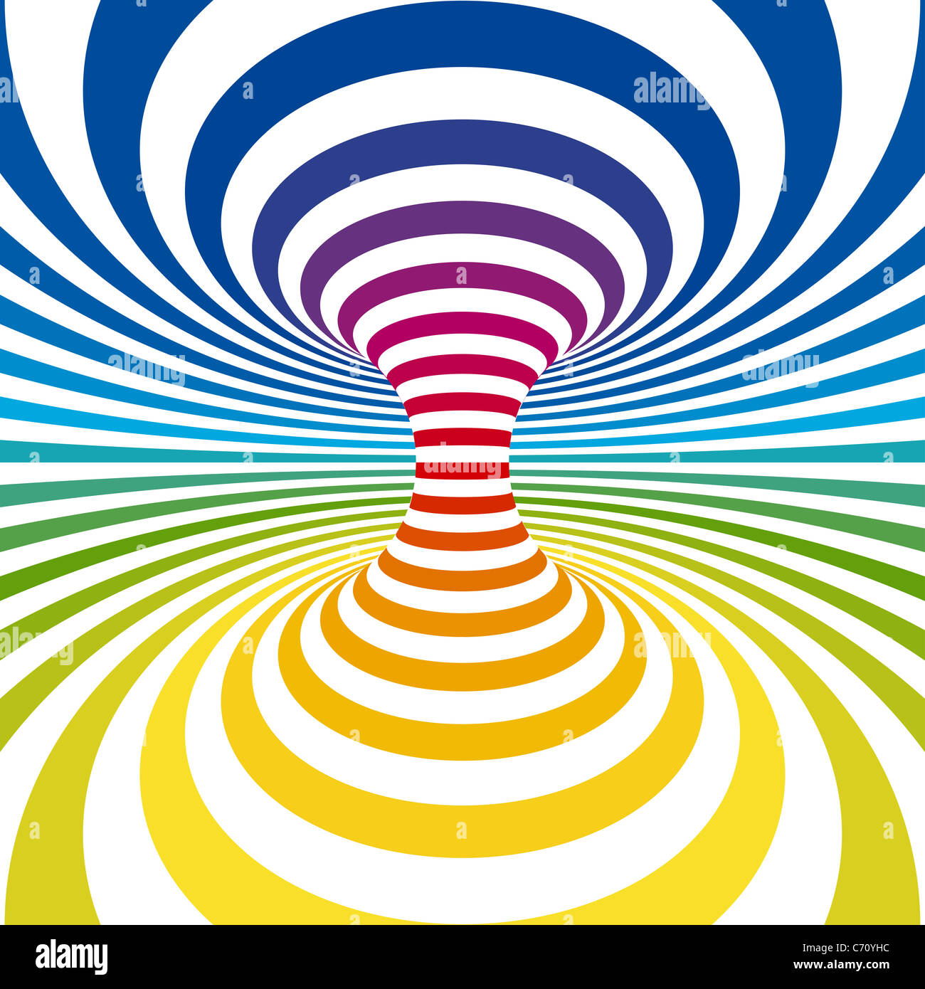 3D Trance. Optical Illusion Background Stock Photo