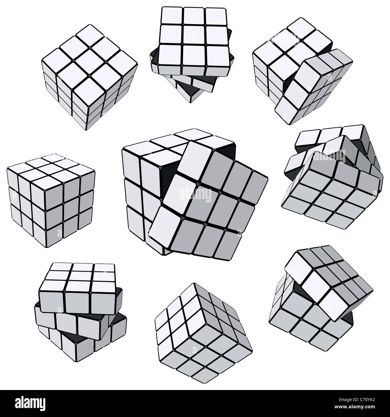 Rubik's Cube puzzle - Stock Image