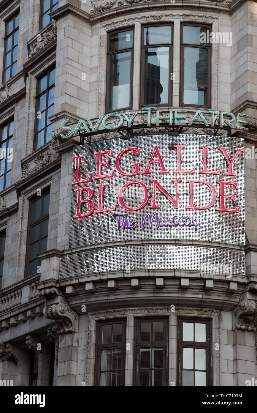 Legally Blonde at the Savoy Theatre, London, England, UK - Stock Image