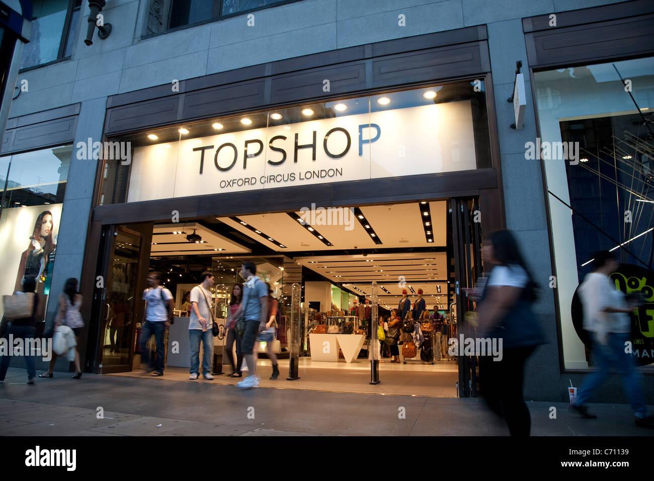 Topshop, Oxford Circus, London, England,