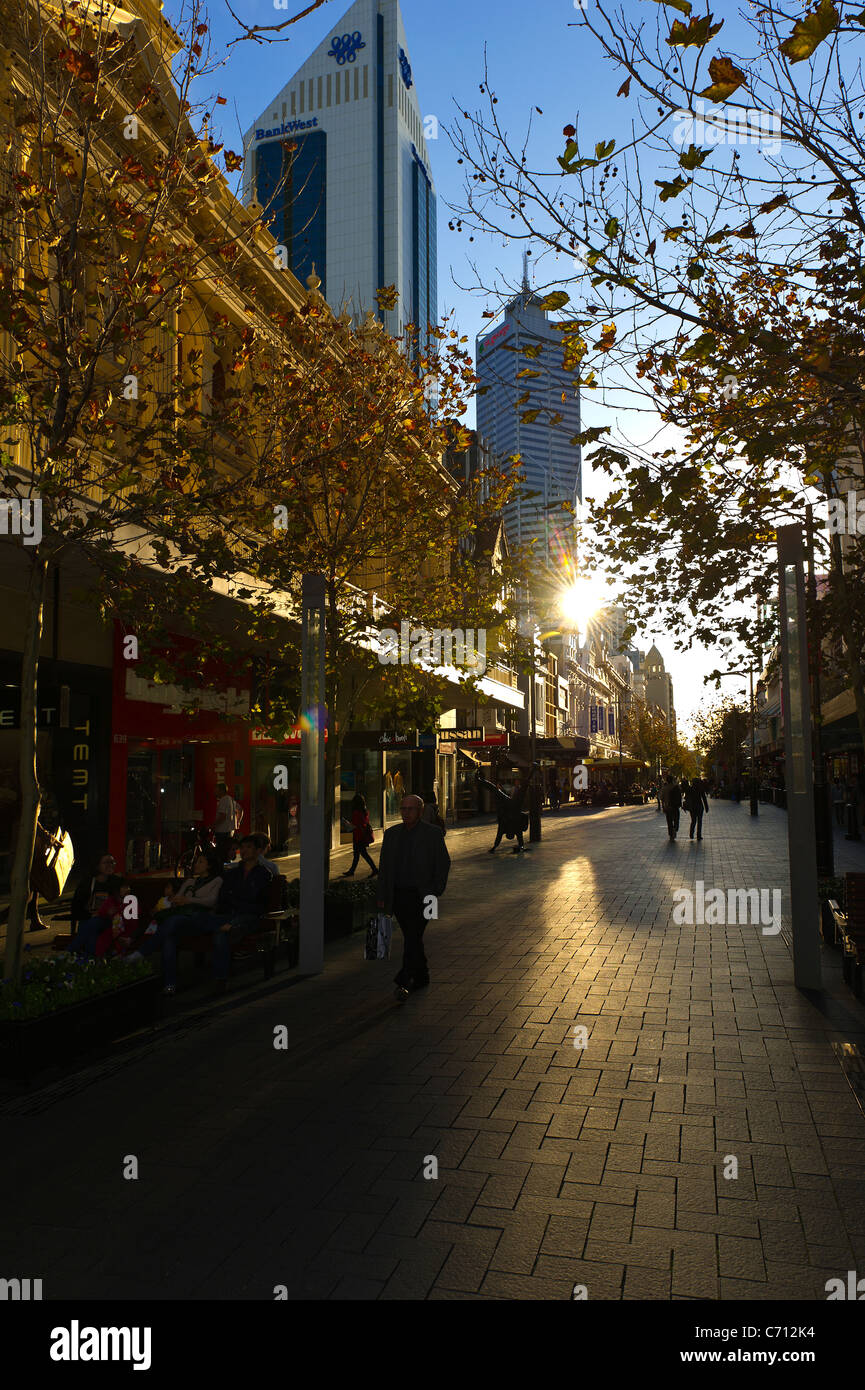 Perth shopping mall Western Australia - Stock Image