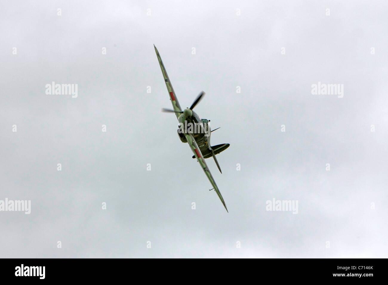 WW2 British RAF Hawker Hurricane Plane - Stock Image