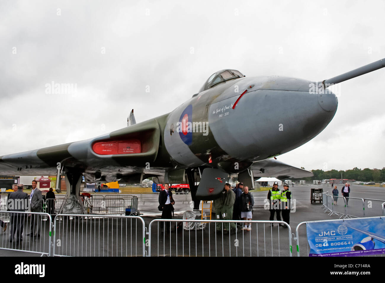 Display by the Avro Vulcan XH558 at the Farnborough International Airshow - Stock Image