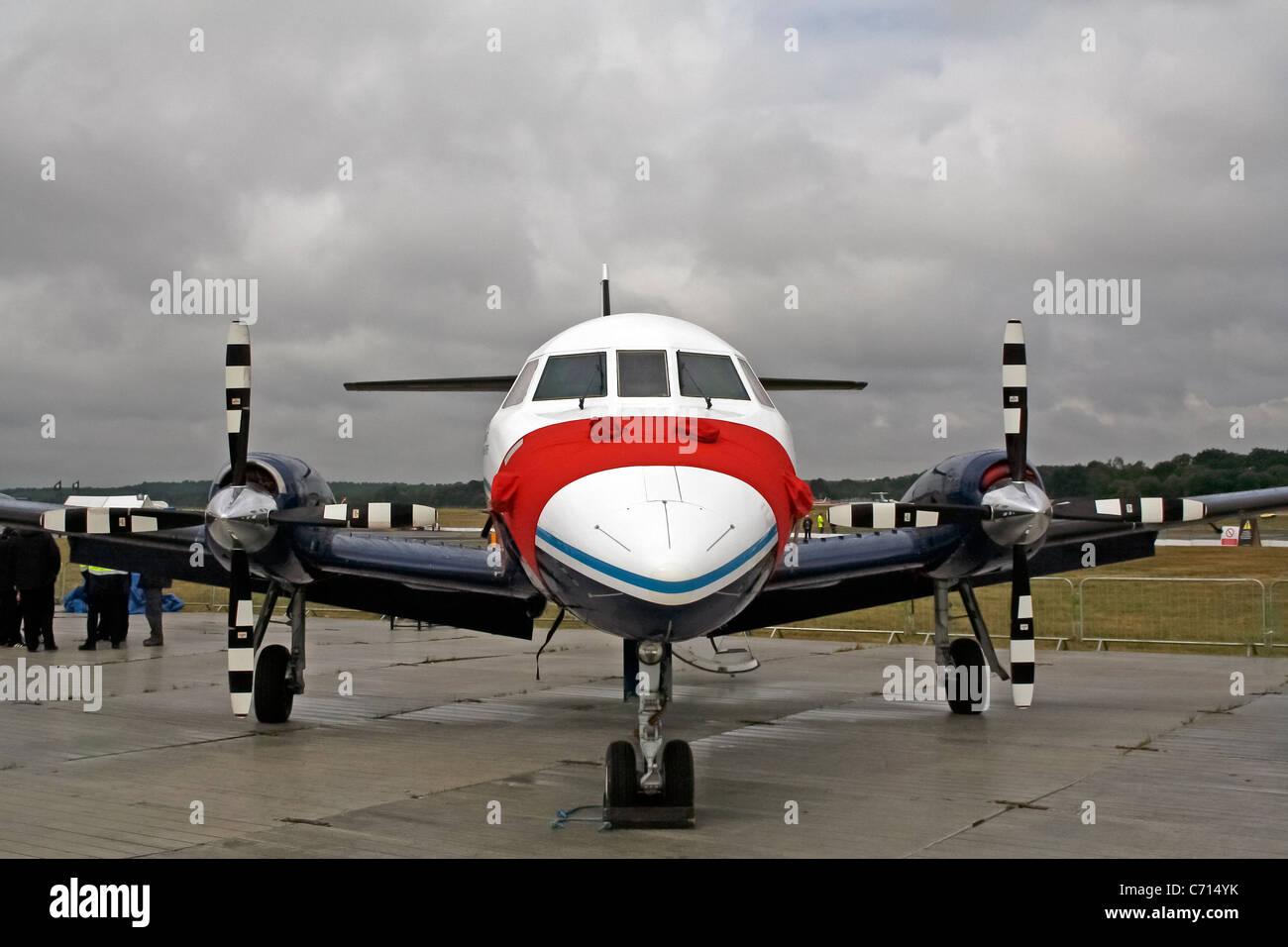 British Aerospace BAe Jetstream 31 G-NFLA Cranfield University at the Farnborough International Airshow - Stock Image