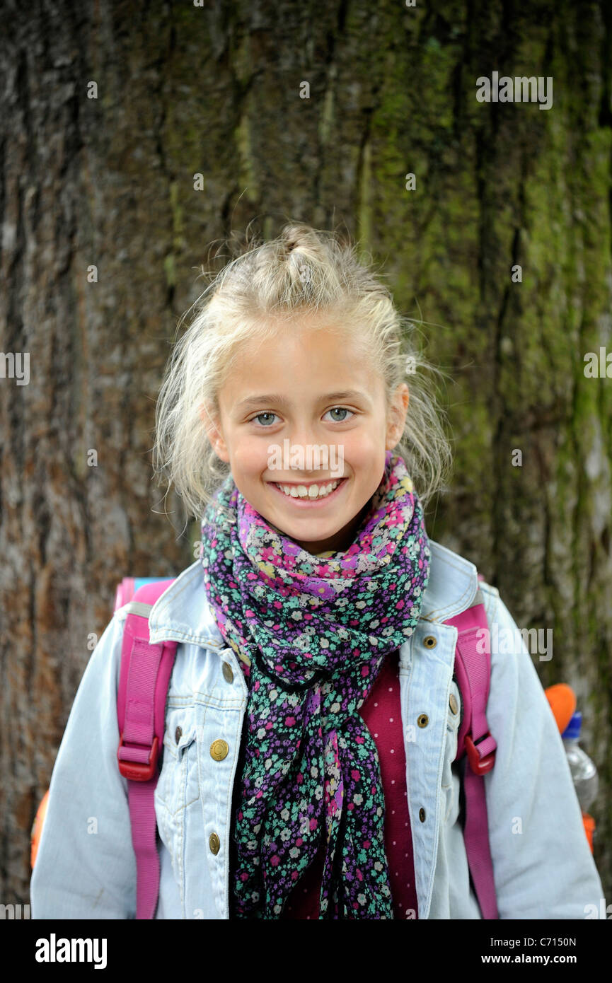 Enrollment of a 6 year old girl Stock Photo