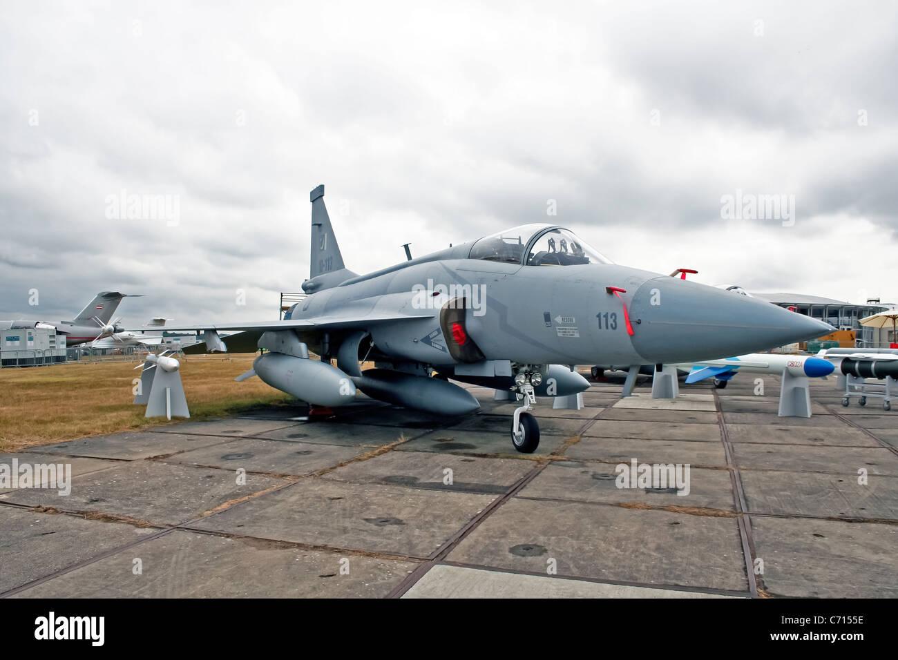 Pakistan Aeronautical Complex JF-17 Thunder 10-113 at the Farnborough International Airshow - Stock Image