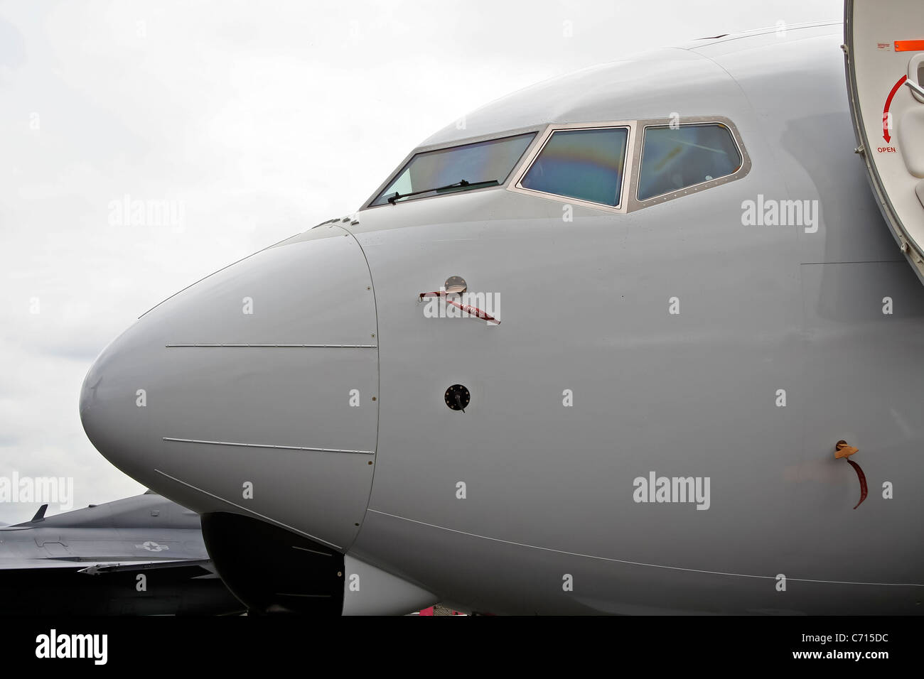 Close up of aircraft nose or cockpit - Stock Image