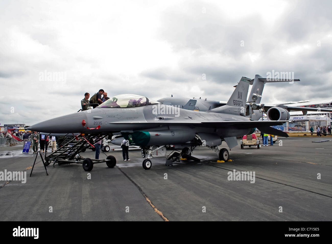 USAF United states airforce at Farnborough Trade Show - Stock Image