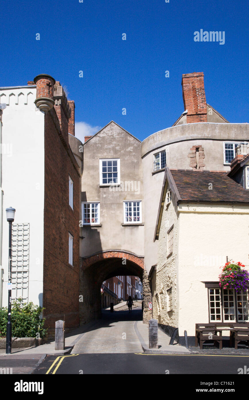 The Broadgate Ludlow Shropshire England - Stock Image