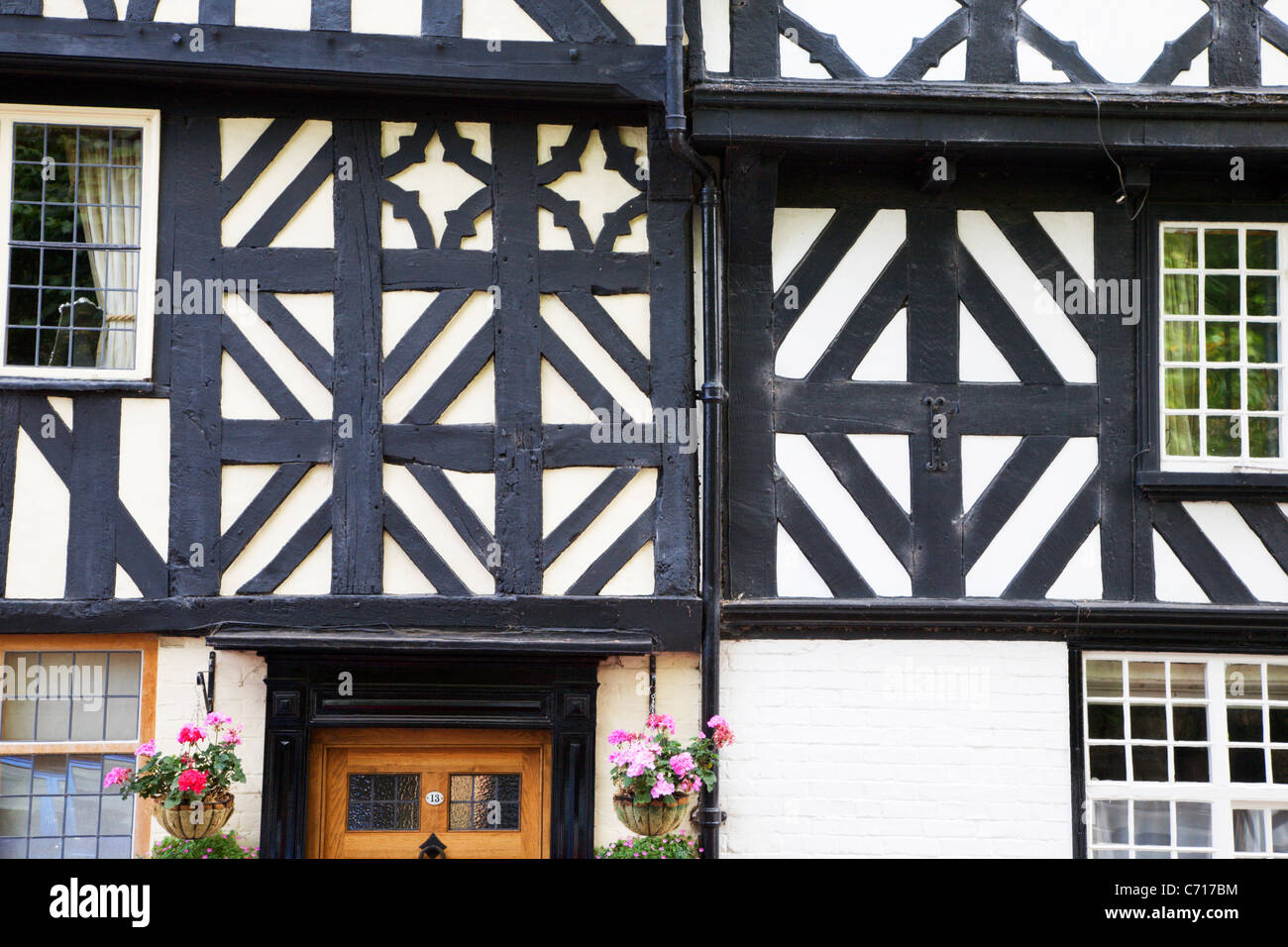 Half Timbered Building on Dinham Ludlow Shropshire England Stock Photo