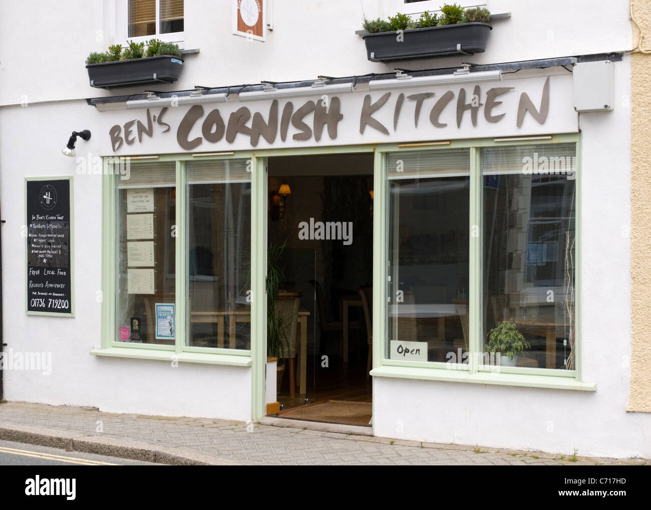 Ben S Cornish Kitchen Cafe Marazion Stock Photo Alamy