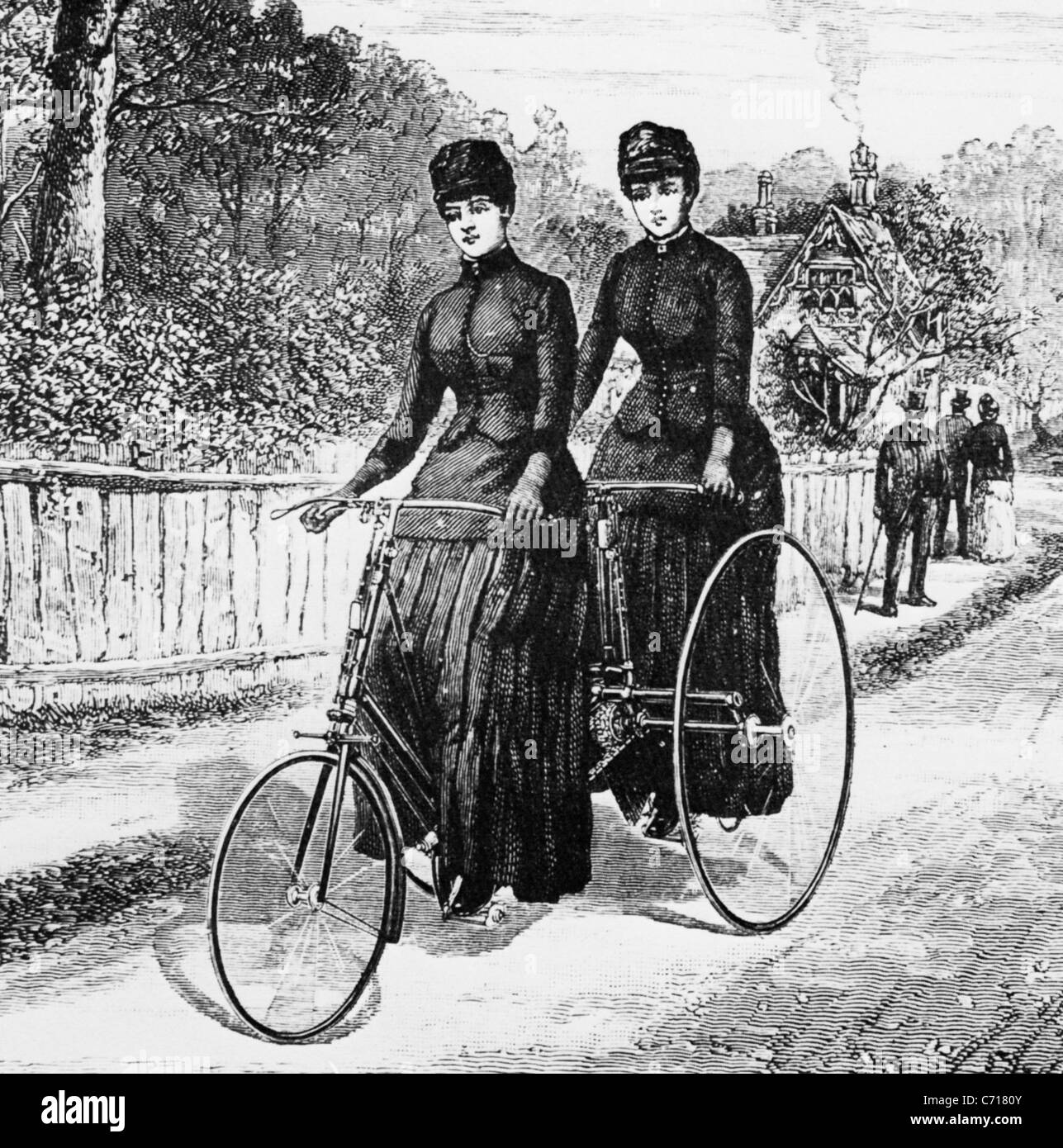 CRIPPER TANDEM TRICYCLE 1877 - Stock Image