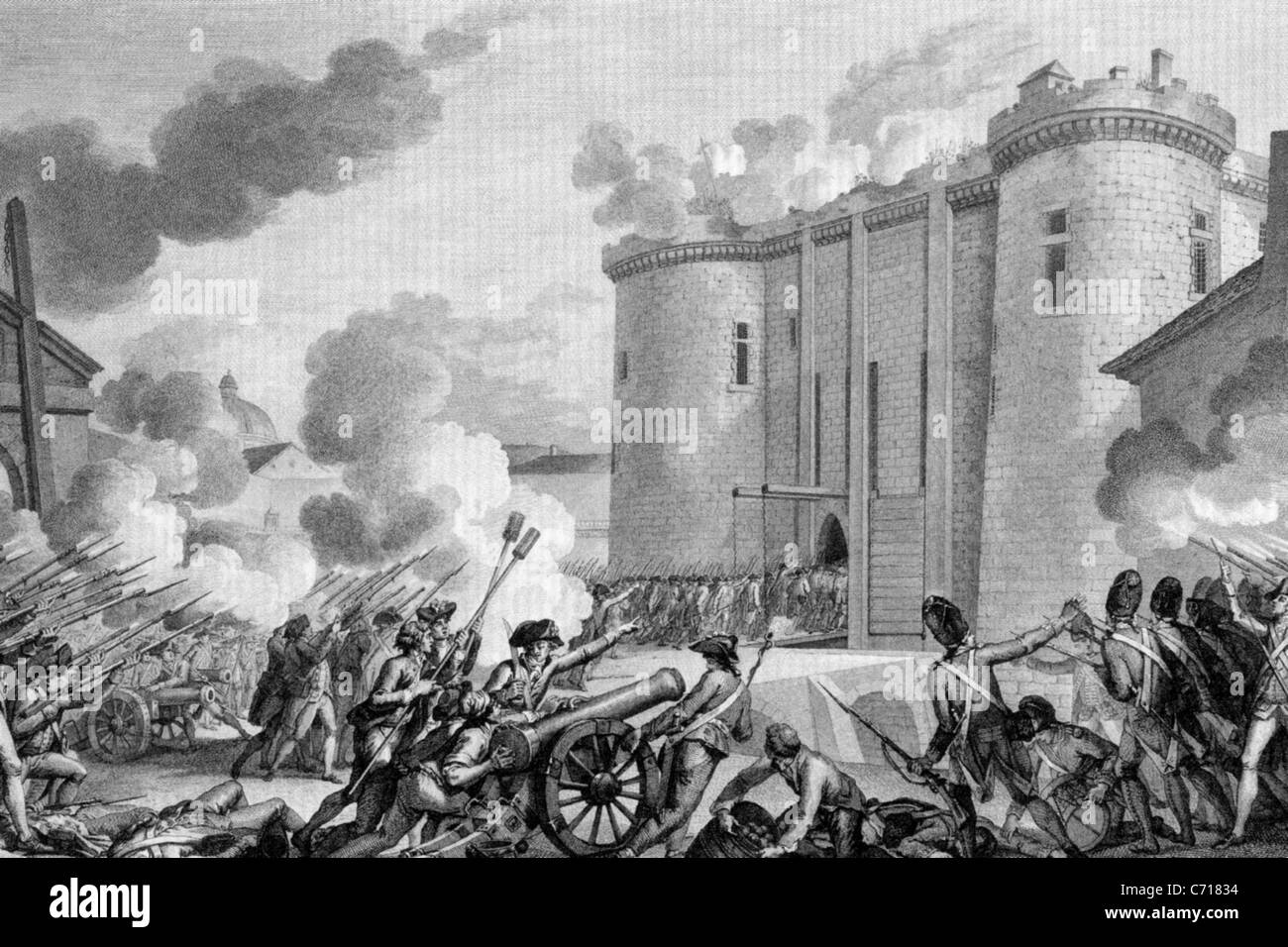 STORMING OF THE BASTILLE in Paris on 14 July 1789