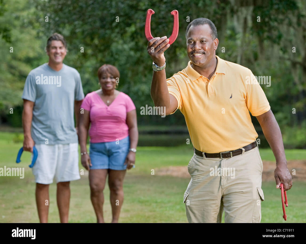 Playing Horseshoes High Resolution Stock Photography and Images - Alamy