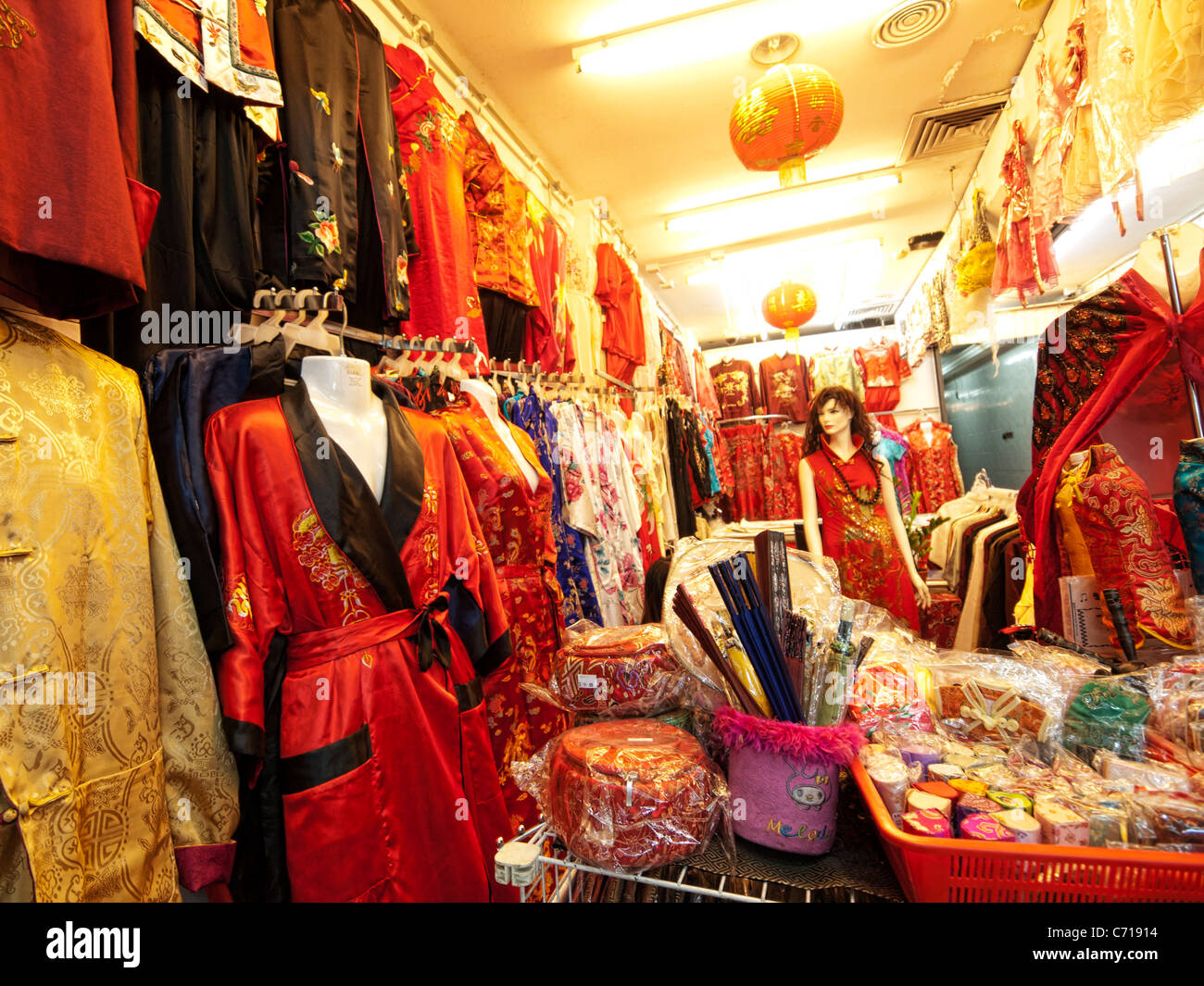 16cab1efad5 Chinese clothes shop in Chinatown Kuala Lumpur Stock Photo  38752368 ...