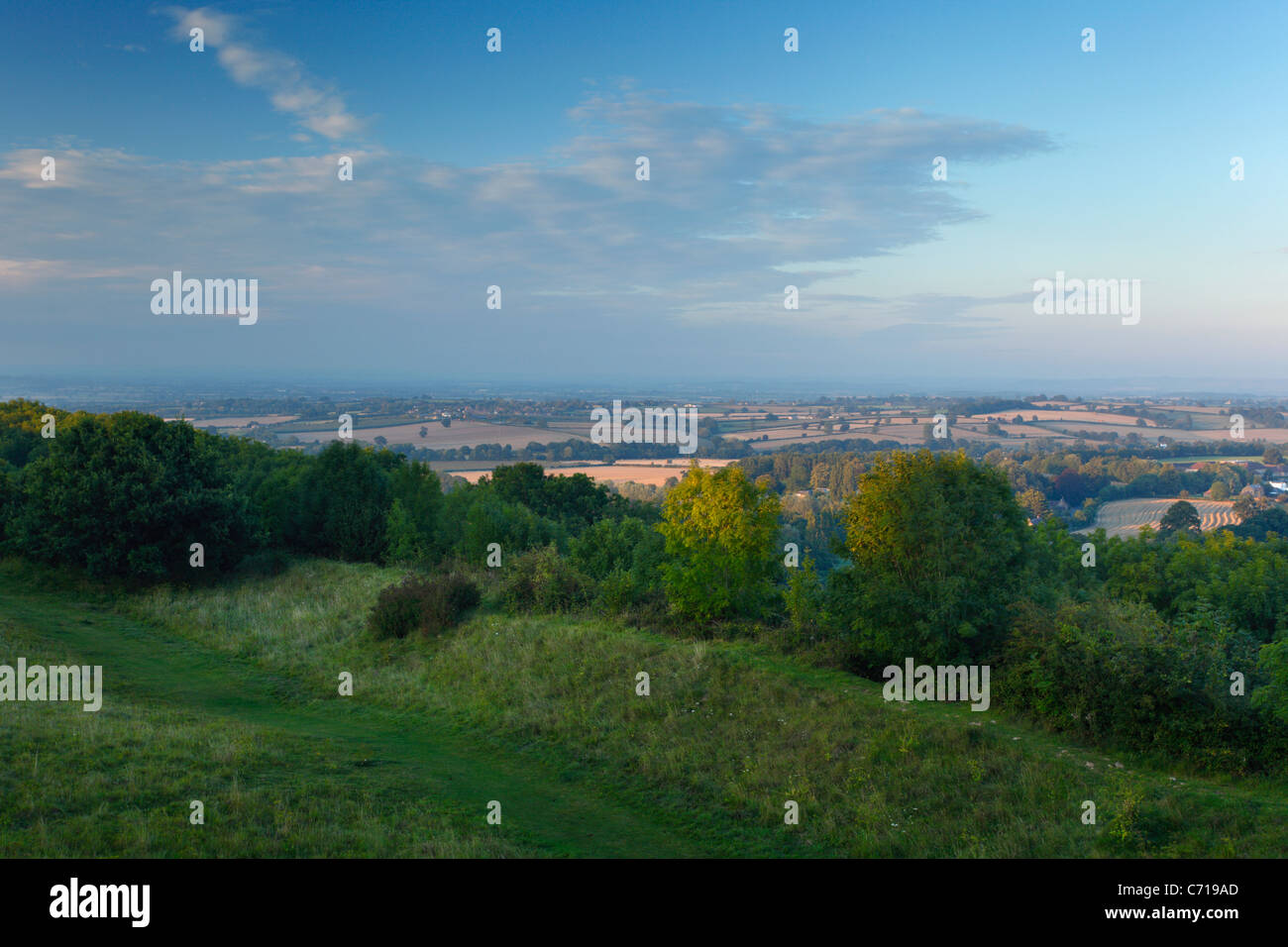 View from Ham Hill Country Park. Somerset. England. UK. - Stock Image