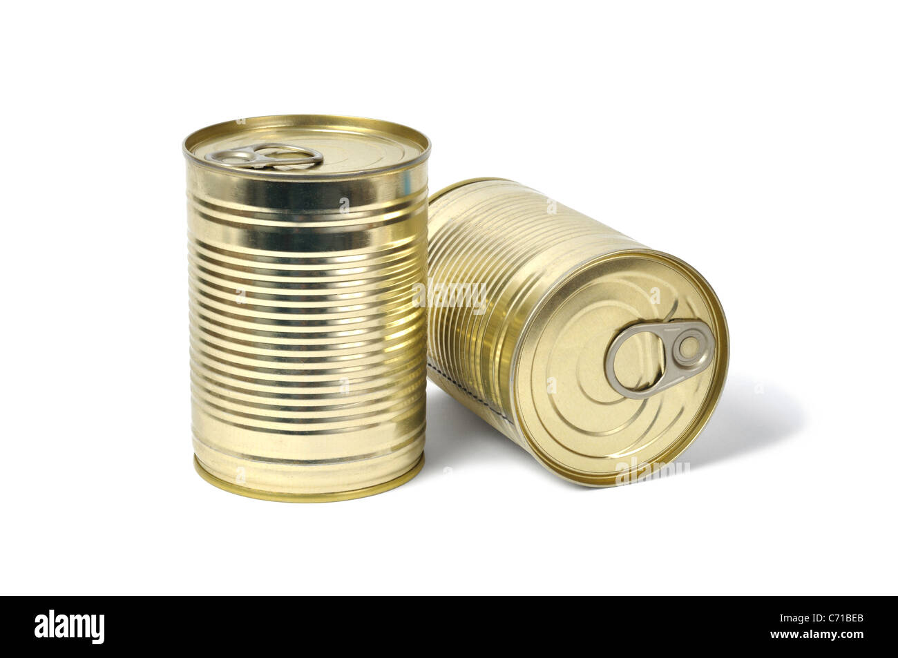 Cans on White - Stock Image