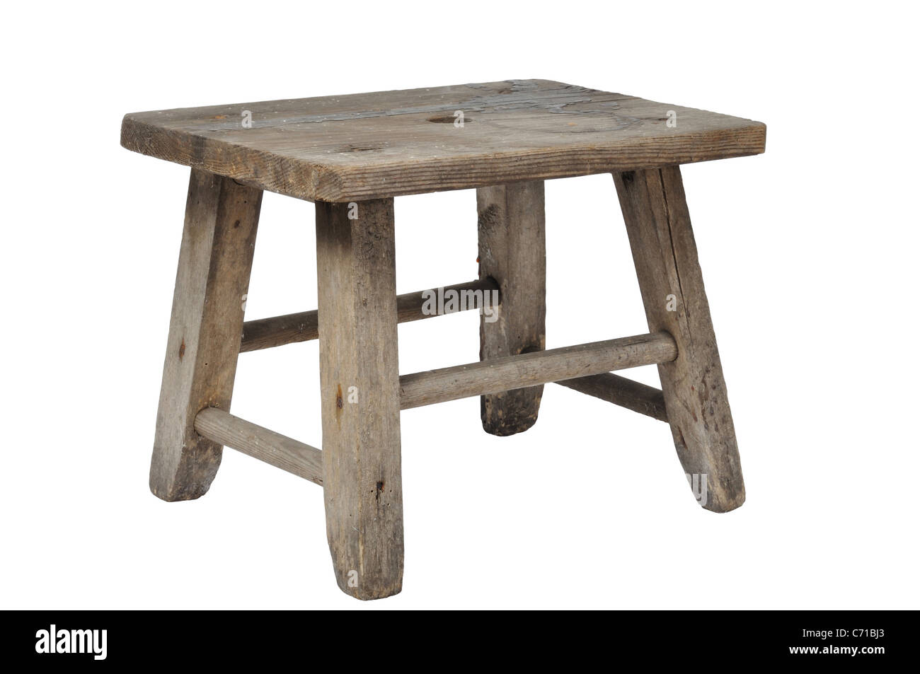 Old Stool - Stock Image