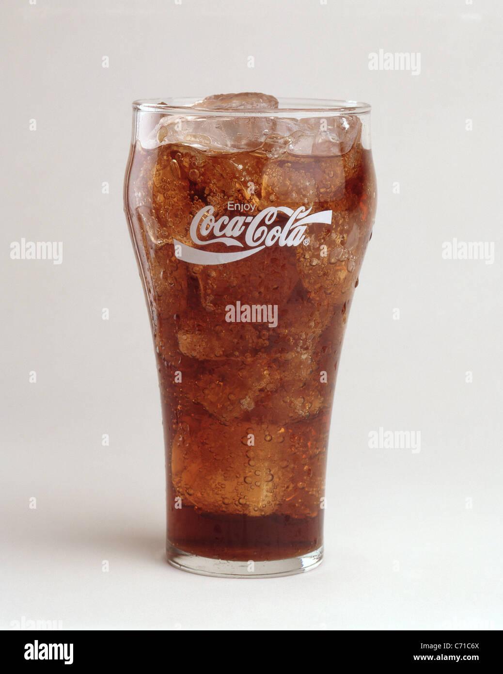 Classic glass of Coca-Cola, United States of America - Stock Image
