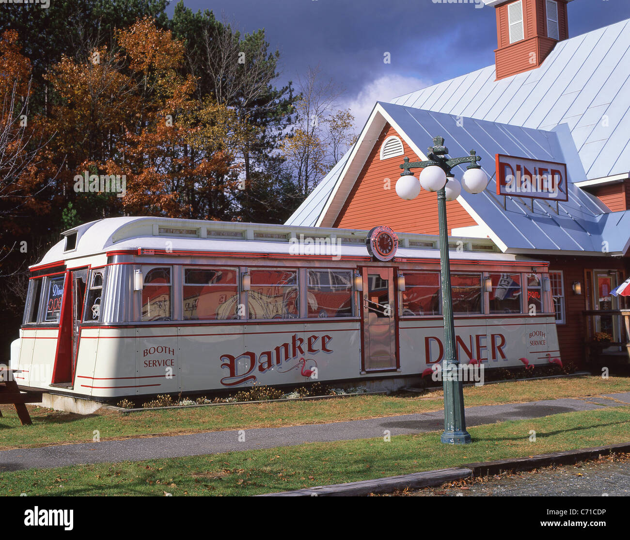 Yankee Diner, Route 20, Charlton City, Charlton, Massachusetts, United States of America - Stock Image
