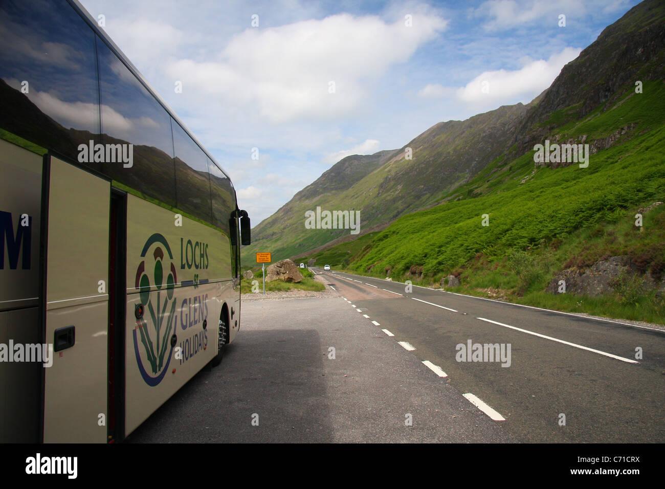 Lochs and Glens at Glencoe - Stock Image