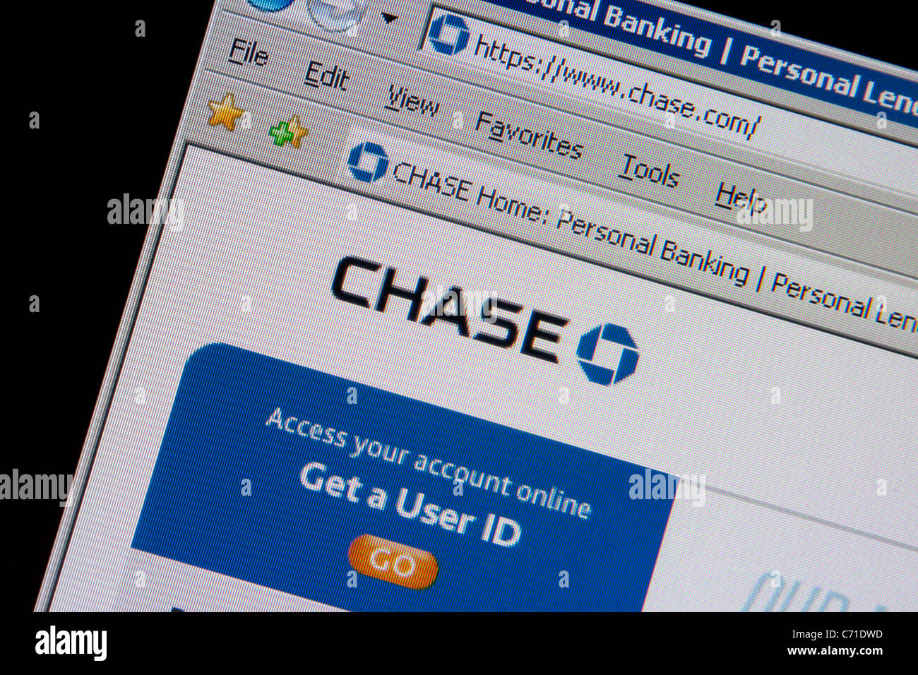 chase banking online - Stock Image