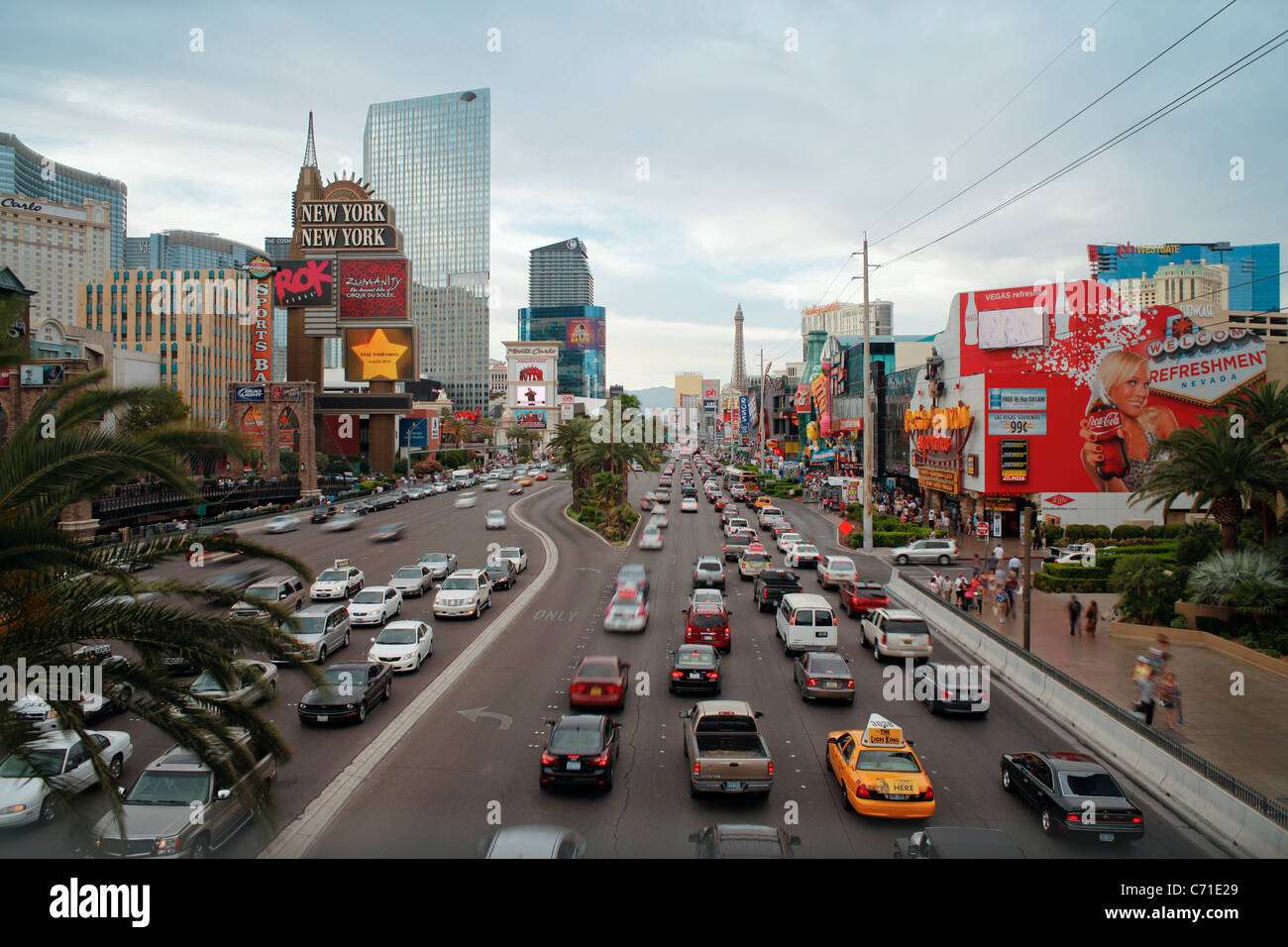 United States of America, Nevada, Las Vegas, Hotels and Casinos along the Strip - Stock Image